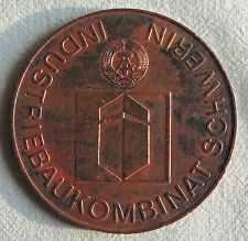 DDR Probe Medaille - Industriebaukombinat Schwerin - soz. Wettbewerb FDGB