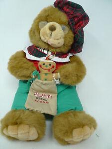 "16"" Large Plush Christmas Bear Stuffed Toy Ginger Bread Flour Bag***"