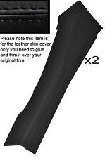 BLACK STITCH 2X  SIDE TRIM PANEL LEATHER SKIN COVERS FITS LOTUS ELAN S3  S4