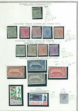 GIBRALTAR - VALUABLE QV -GV MINT COLLECTION ON ALBUM PAGE