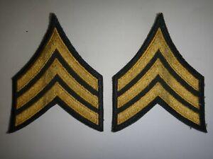 Paire De États-Unis Armée Sergent E-5 Grand Chevrons