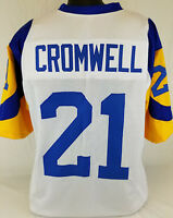 Nolan Cromwell Unsigned Custom Sewn White/Yellow Football Jersey Size-L, XL, 2XL