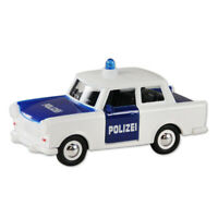Trabi Trabant Limousine Polizei blau,Modellauto DDR Metall 12 cm,NEU