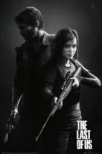 """The Last Of Us - Gaming Poster / Print (Black & White Portrait) (24"""" X 36"""")"""