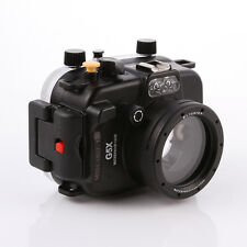 40m/130ft Waterproof Underwater Housing Case Dive For Canon PowerShot G5X Camera