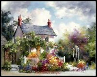 April in Paris DIY Chart Counted Cross Stitch Patterns Needlework DMC Color