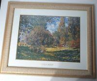 """Large Framed Print Claude Monet The Parc Monceau 32.75"""" X 26.75"""""""