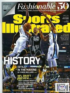 Stephen Curry Signed Sports Illustrated Magazine PSA AI55633