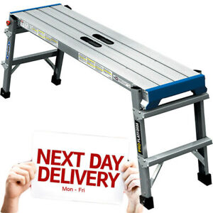 Werner Pro Folding Work Platform Bench Hop Step Up Decorators Plasterers DIY NEW
