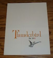 1961 Ford Thunderbird Foldout Sales Brochure 61 T-bird