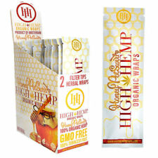 High Hemp Honey Pot Swirl Organic Wraps 1 Box 25 Pouch (50 Wraps) NON GMO