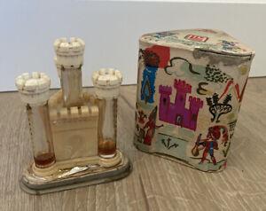 Vintage Lucien Lelong Castle Perfume Set w/ Original Box