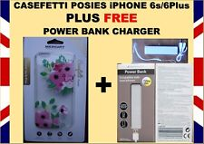 Merkury Innovations Casefetti Posies for iPhone6s/6 Plus +FREE POWERBANK CHARGER