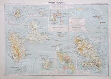 Antilles Françaises Guadaloupe Guadeloupe Martinique 1934 French Map Grandidier