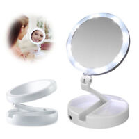 10x Magnifying Makeup Mirror Beauty Stand Double Side with LED Light Cosmetic IU