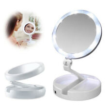 10x Magnifying Makeup Mirror Beauty Stand Double Side with LED Light Cosmetic VB