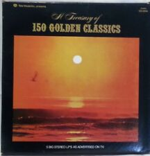 THE TREASURY OF 150 GOLDEN CLASSICS - vintage vinyl LP - 5 Album Set
