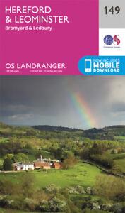 Hereford Leominster Bromyard & Ledbury Landranger Map 149 Ordnance Survey Latest