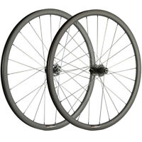 Carbon Cyclocross Wheels 700C 30mm Carbon Wheelset With Disc Brake Thru Axle/QR