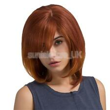 Real Human Hair Wig Fashion Women Wig Bob Curly Party Cosplay Full Wigs