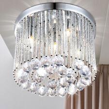Decken Lampe Kristall Leuchte chrom ALU Design Strahler Wohn Zimmer Beleuchtung