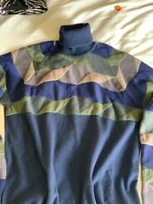 NWT $350 Versace Jeans Knit Virgin Wool Turtleneck Sweater size M