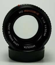 Minolta MD Rokkor-X 50mm 1:1.4 Lens Fully Tested US Seller with Front/Rear Caps