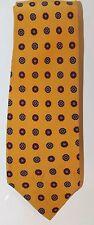 Guy Laroche Paris Men Neck Tie Yellow Geometric 100% Silk Made In Italy Slim