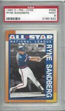 1990 Donruss baseball card #398 Ryne Sandberg, Chicago Cubs graded PSA 9