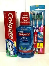 Colgate Triple action Toothpaste +3 toothbrush &Colgate Freshness 250ml combo