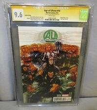 AGE OF ULTRON #10 (Variant Cover, Signed by Mark Brooks) CGC 9.6 NM+ Marvel 2013