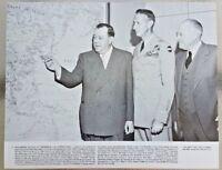 Vintage 11x14 Photo Trygve Lie, General Mark Clark, Warren Austin - Korean War