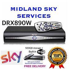 SKY PLUS + HD BOX 500gb AMSTRAD WIFI RECIEVER/RECORDER + REMOTE AND POWER CABLE