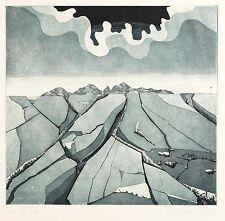 Peter Sylvester-historial de un paisaje I-aguafuerte/aquatinta 1975