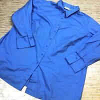 A-765 Denim & Co. Button Front long sleeve shirt BLUE  size 2x