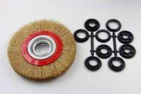 VEWERK 150MM Brass Wire Wheel Brush For Bench Grinder – Box of 5 2128