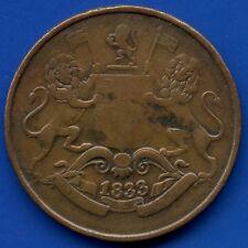 1833 East India Company Quarter Anna Coin
