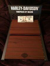 Harley Davidson Bulova Watch Retail Store Counter Display, Man Cave, She Shed