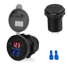 Car charger Socket 2.1A USB Port Charger Power Outlet LED light digital Voltage