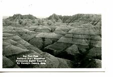 Big Foot Pass-Badlands Natl Park-South Dakota-RPPC-Vintage Real Photo Postcard