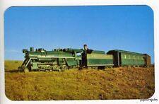 Santa Claus IN Miniature Train Railroad Postcard