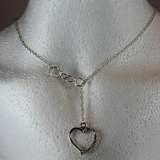 Beautiful Lariet style necklace - Handcuff & Heart design *FREE 1St Class Post*