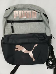 Puma Backpack Bag  Girls Meridian 4.0 Bag- Pink & Grey School Sports Women B9