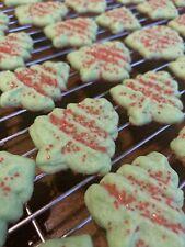 Spritz Cookies Homemade Christmas Trees With Sprinkles 3 Dozen