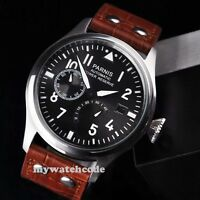 47mm parnis black dial power reserve ST2530 automatic mens Luxury watch P120
