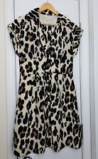 Nanette Lapore Silk Animal Print Cheetah Short Sleeve Dress Size 6