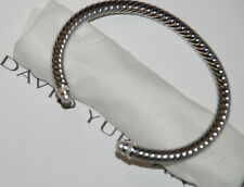 David Yurman Cable Classic Bracelet with Pearl  and Diamonds 5mm