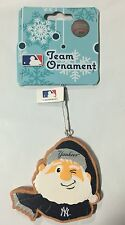 NY New York Yankees Gingerbread Winking SANTA Christmas Tree Holiday Ornament