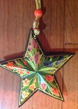 SALE!  Christmas Holiday Floral Star Ornament, Ornaments, Decorations
