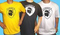T-shirt CORSICA jaune, blanc ou noir - 3 ans à XXL : CORSE tête de maure